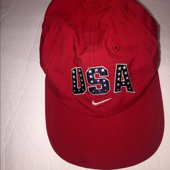 dfdd5384 Nike Usa red Olympic logo aerobill dri fit hat cap.  M_5afeb863a6e3ea8e349dbc01